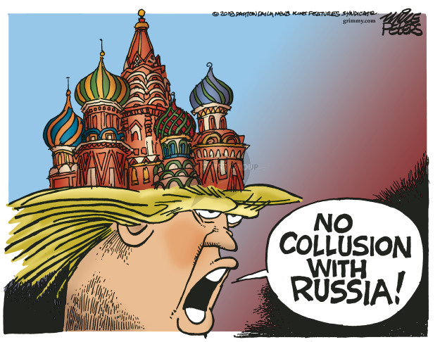 Cartoonist Mike Peters  Mike Peters' Editorial Cartoons 2018-11-30 Russia Investigation