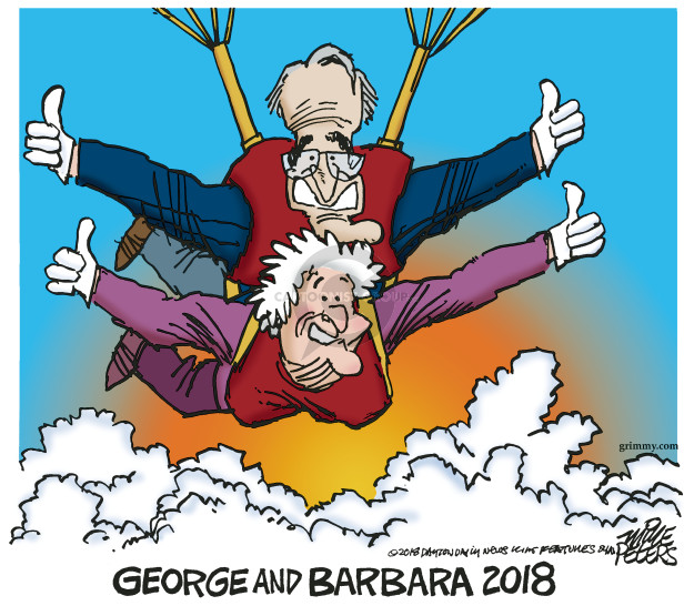 Cartoonist Mike Peters  Mike Peters' Editorial Cartoons 2018-12-01 Barbara Bush