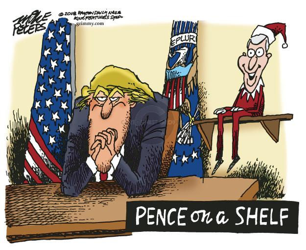 Pence on a Shelf.