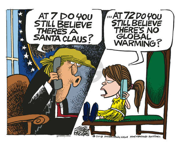 Cartoonist Mike Peters  Mike Peters' Editorial Cartoons 2018-12-26 climate