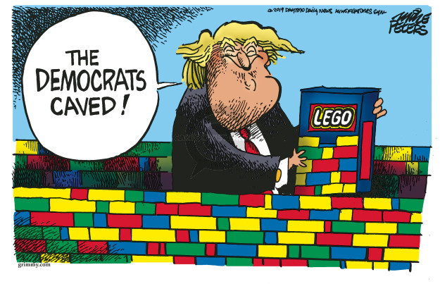 The Democrats caved! Lego.