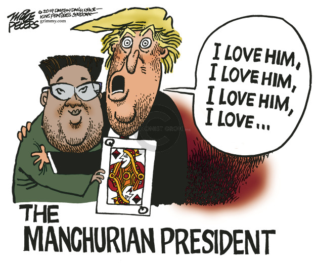Cartoonist Mike Peters  Mike Peters' Editorial Cartoons 2019-02-28 Jong