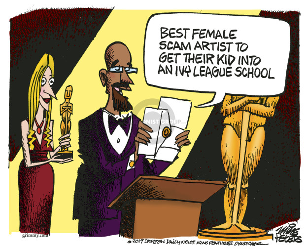 Cartoonist Mike Peters  Mike Peters' Editorial Cartoons 2019-03-13 college student