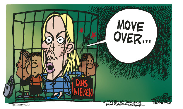 Mike Peters  Mike Peters' Editorial Cartoons 2019-04-09 Department of Homeland Security