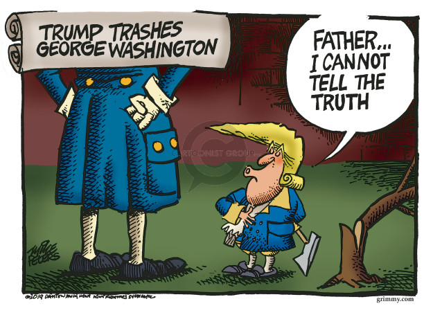 Mike Peters  Mike Peters' Editorial Cartoons 2019-04-11 founding father