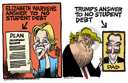 Cartoonist Mike Peters  Mike Peters' Editorial Cartoons 2019-04-25 presidential candidate