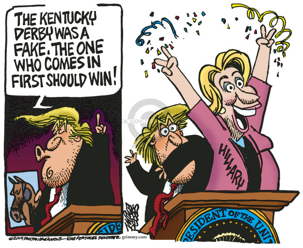 Mike Peters  Mike Peters' Editorial Cartoons 2019-05-08 2016 Election Hillary Clinton