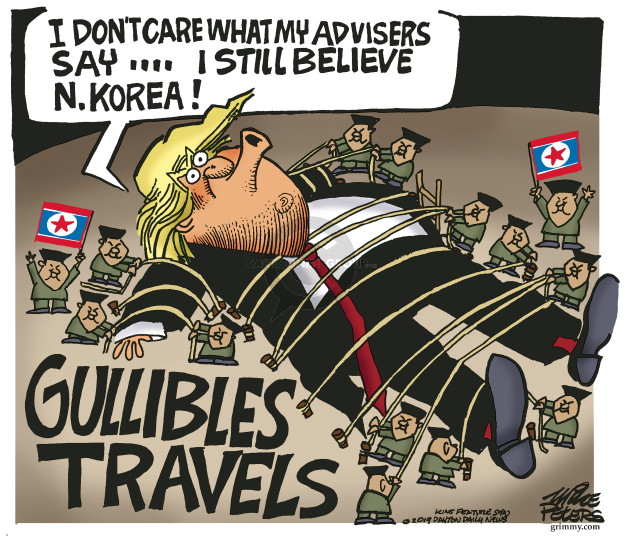 Cartoonist Mike Peters  Mike Peters' Editorial Cartoons 2019-05-14 Kim