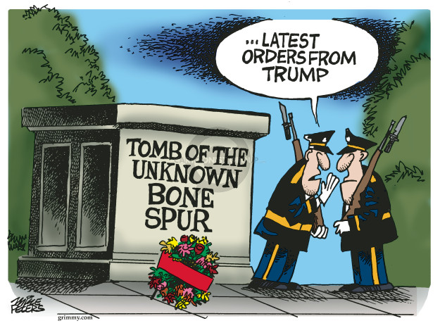 Cartoonist Mike Peters  Mike Peters' Editorial Cartoons 2019-05-28 war