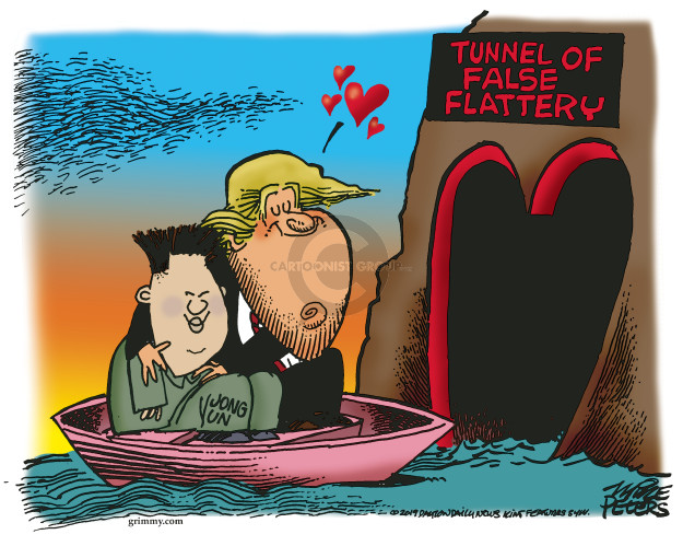 Cartoonist Mike Peters  Mike Peters' Editorial Cartoons 2019-06-14 Kim