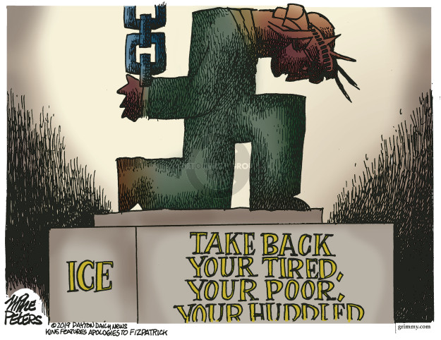 Cartoonist Mike Peters  Mike Peters' Editorial Cartoons 2019-07-12 immigrant