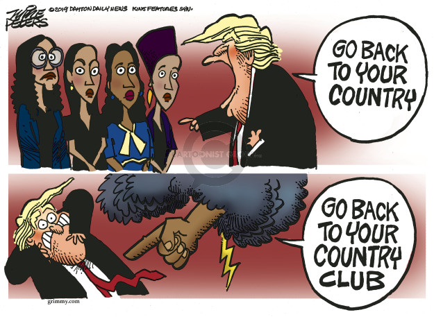 Cartoonist Mike Peters  Mike Peters' Editorial Cartoons 2019-07-18 social
