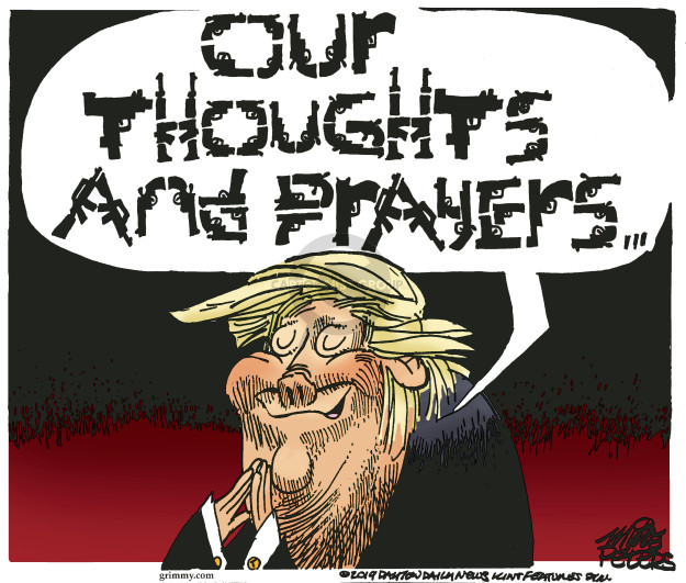 Cartoonist Mike Peters  Mike Peters' Editorial Cartoons 2019-05-19 gun rights