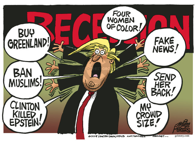 Cartoonist Mike Peters  Mike Peters' Editorial Cartoons 2019-08-21 Clinton