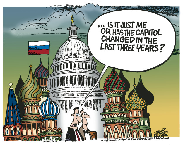 Cartoonist Mike Peters  Mike Peters' Editorial Cartoons 2019-08-29 security