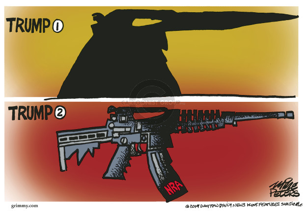 Cartoonist Mike Peters  Mike Peters' Editorial Cartoons 2019-09-04 weapon