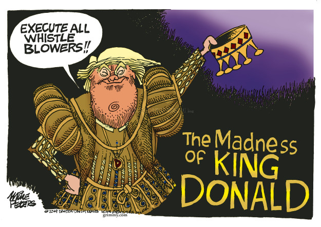 Mike Peters  Mike Peters' Editorial Cartoons 2019-09-27 presidential administration
