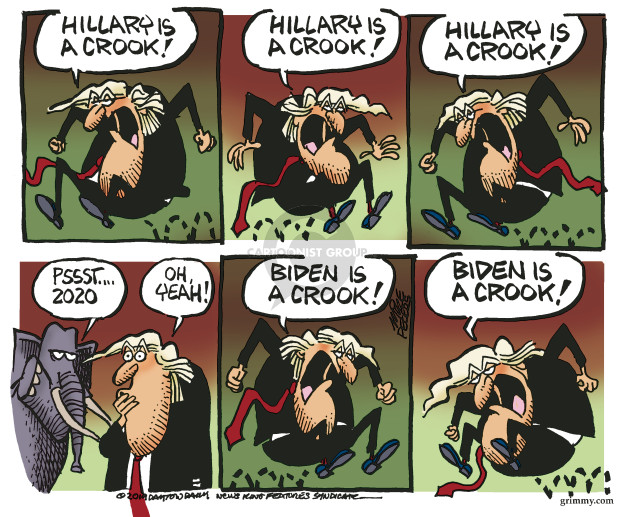 Cartoonist Mike Peters  Mike Peters' Editorial Cartoons 2019-10-05 Clinton