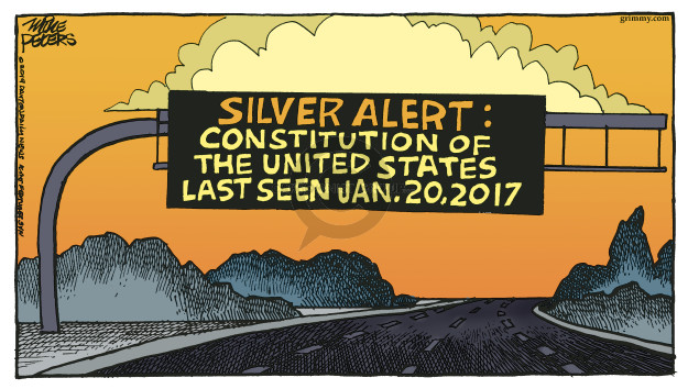Silver alert: Constitution of the United States last seen Jan. 20, 2017.
