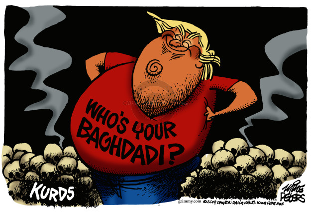 Cartoonist Mike Peters  Mike Peters' Editorial Cartoons 2019-10-28 international affairs