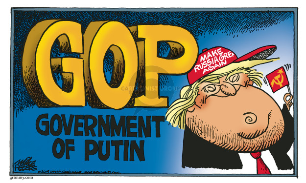 Cartoonist Mike Peters  Mike Peters' Editorial Cartoons 2019-11-27 Russia Investigation