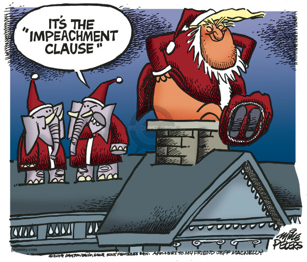 Cartoonist Mike Peters  Mike Peters' Editorial Cartoons 2019-12-19 impeachment