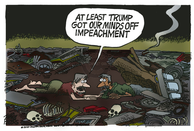 Cartoonist Mike Peters  Mike Peters' Editorial Cartoons 2020-01-03 impeachment