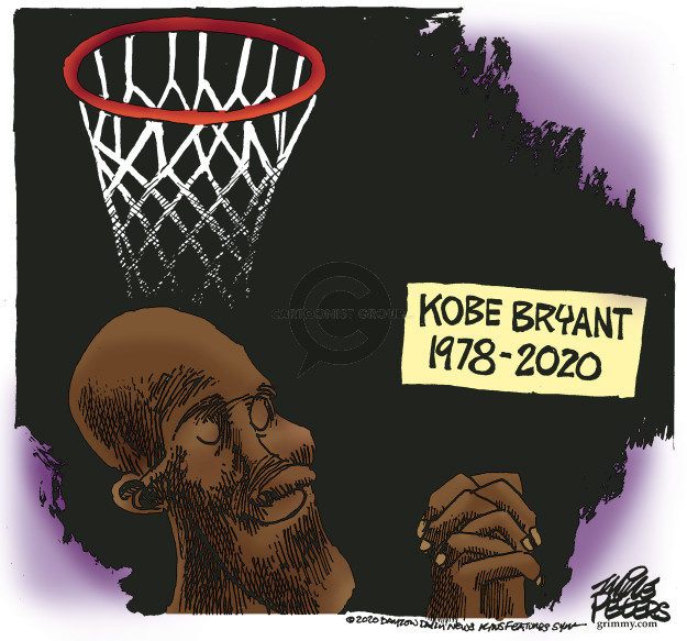 Cartoonist Mike Peters  Mike Peters' Editorial Cartoons 2020-01-27 Kobe Bryant