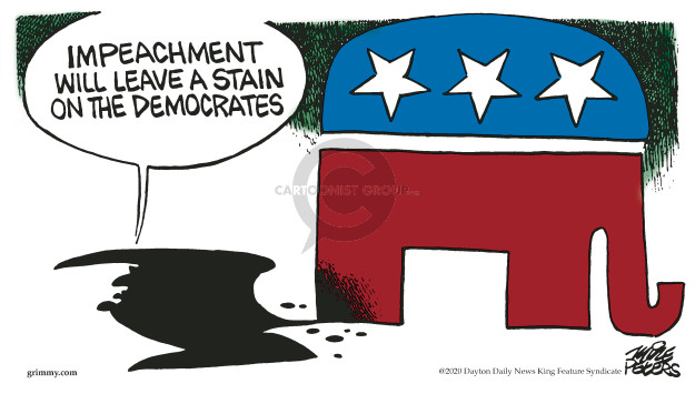 Cartoonist Mike Peters  Mike Peters' Editorial Cartoons 2020-02-08 impeachment