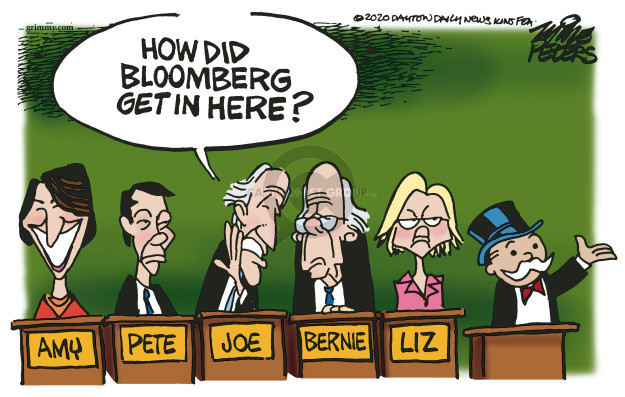 Mike Peters  Mike Peters' Editorial Cartoons 2020-02-19 money