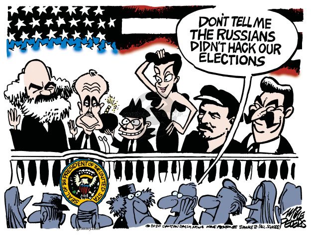 Cartoonist Mike Peters  Mike Peters' Editorial Cartoons 2020-02-26 security