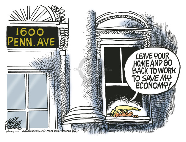 Mike Peters  Mike Peters' Editorial Cartoons 2020-03-25 recession
