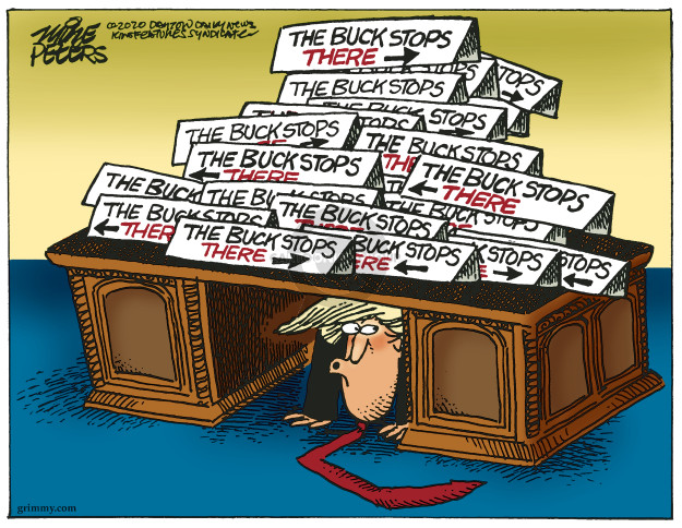 Cartoonist Mike Peters  Mike Peters' Editorial Cartoons 2020-04-03 presidential