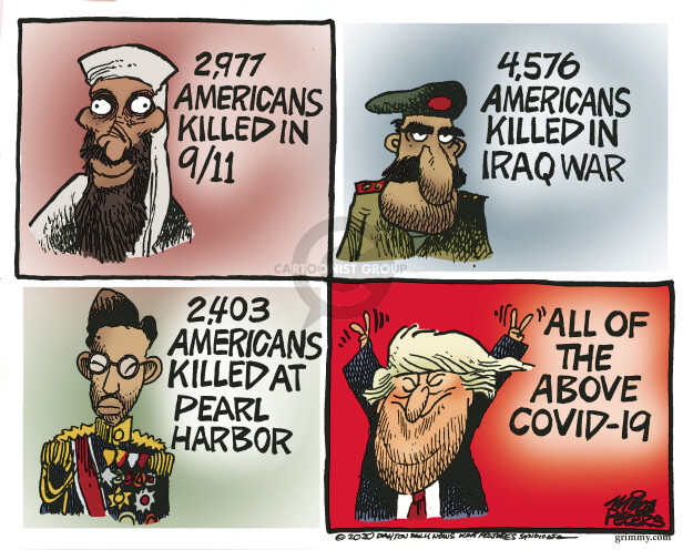 Mike Peters  Mike Peters' Editorial Cartoons 2020-04-07 death