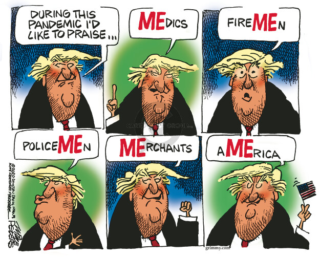 Cartoonist Mike Peters  Mike Peters' Editorial Cartoons 2020-04-22 presidential