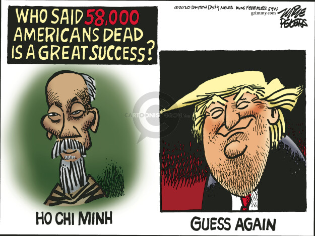 Cartoonist Mike Peters  Mike Peters' Editorial Cartoons 2020-04-30 presidential