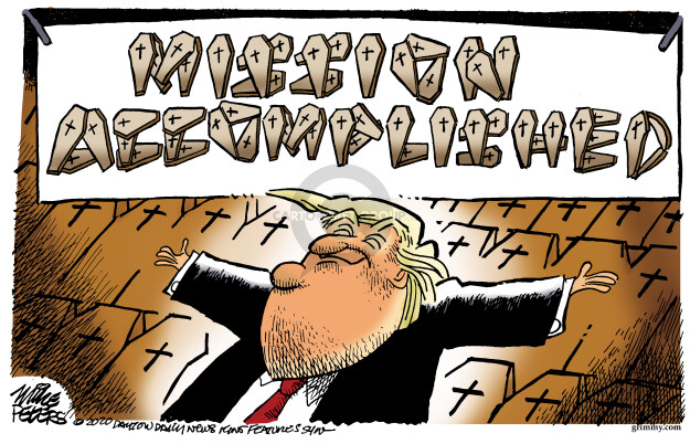 Cartoonist Mike Peters  Mike Peters' Editorial Cartoons 2020-05-08 presidential