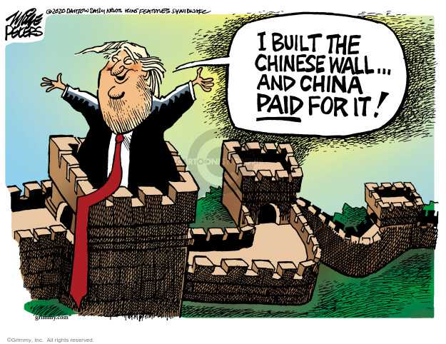 Cartoonist Mike Peters  Mike Peters' Editorial Cartoons 2020-05-13 foreign