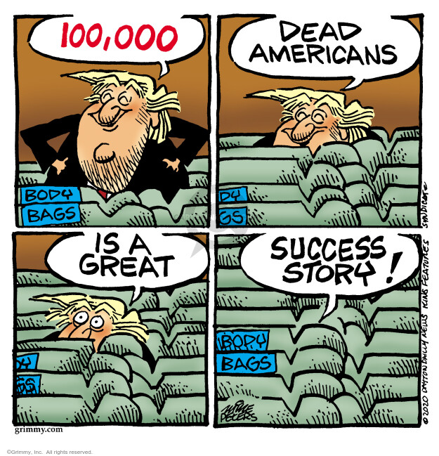 Cartoonist Mike Peters  Mike Peters' Editorial Cartoons 2020-05-22 presidential
