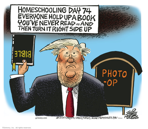 Cartoonist Mike Peters  Mike Peters' Editorial Cartoons 2020-06-04 presidential