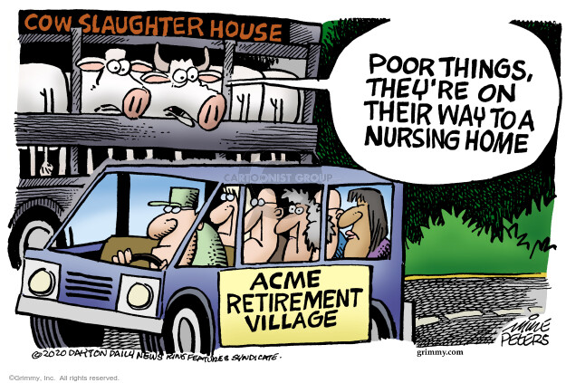 Mike Peters  Mike Peters' Editorial Cartoons 2020-06-11 death