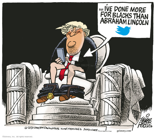 Cartoonist Mike Peters  Mike Peters' Editorial Cartoons 2020-06-14 presidential