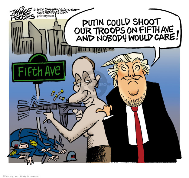 Mike Peters  Mike Peters' Editorial Cartoons 2020-07-03 Donald Trump Vladimir Putin