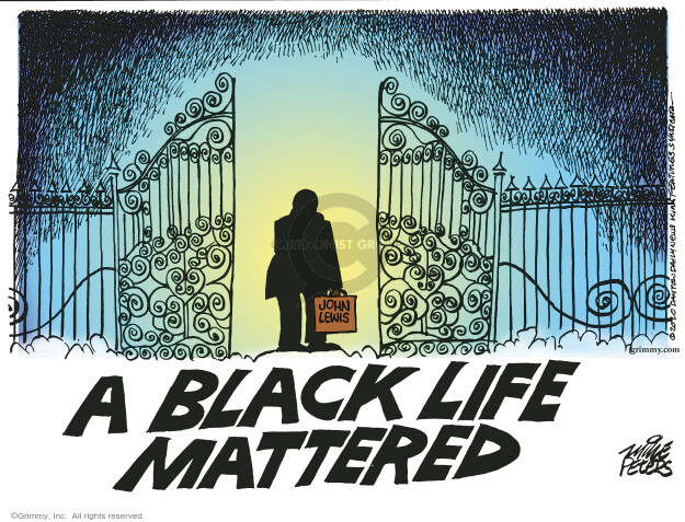 Mike Peters  Mike Peters' Editorial Cartoons 2020-07-28 death