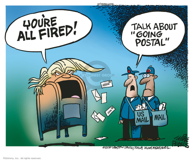Mike Peters  Mike Peters' Editorial Cartoons 2020-08-12 Donald Trump