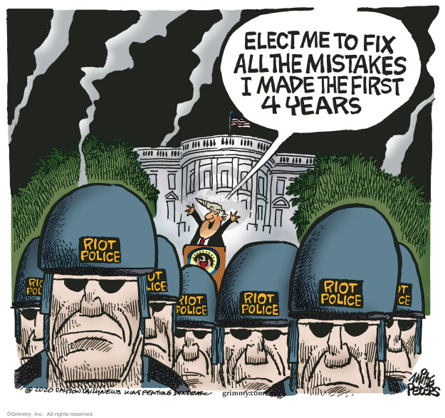 Mike Peters  Mike Peters' Editorial Cartoons 2020-08-29 Donald Trump