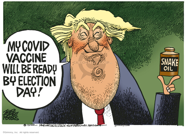 Mike Peters  Mike Peters' Editorial Cartoons 2020-09-02 Donald Trump