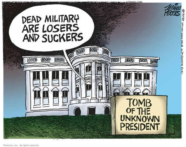 Mike Peters  Mike Peters' Editorial Cartoons 2020-09-04 Donald Trump