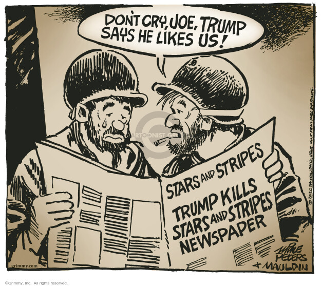 Mike Peters  Mike Peters' Editorial Cartoons 2020-09-05 Donald Trump