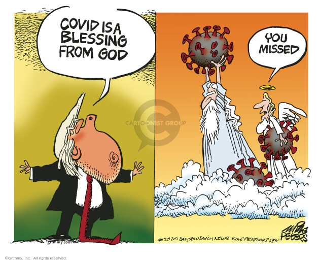 Mike Peters  Mike Peters' Editorial Cartoons 2020-10-08 Donald Trump